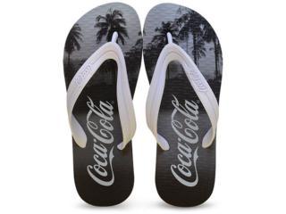 Chinelo Masculino Coca-cola Shoes Ccl2049 Preto/branco - Tamanho Médio