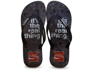 Chinelo Masculino Coca-cola Shoes Cc2246 Preto - Tamanho Médio