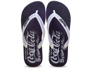 Chinelo Masculino Coca-cola Shoes Cc2099 Marinho/branco - Tamanho Médio