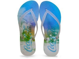 Chinelo Feminino Coca-cola Shoes Ccl2247 Branco/cristal - Tamanho Médio