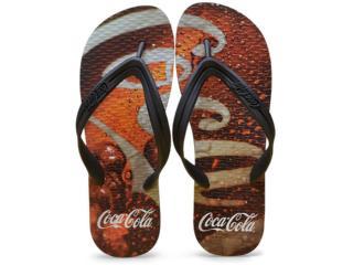 Chinelo Masculino Coca-cola Shoes Ccl2276 Preto - Tamanho Médio