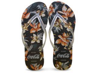 Chinelo Feminino Coca-cola Shoes Cc2269 Preto/cristal - Tamanho Médio