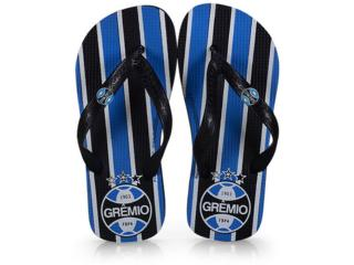 Chinelo Uni Infantil Dilva Oldoni 120258 Grêmio Preto/azul - Tamanho Médio