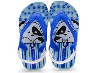 Chinelo Masc Infantil Grendene 25431 Ipanema Baby Azul/branco - Tamanho Médio