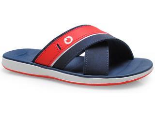 Chinelo Masculino Grendene 10955 Cartago Malaga Branco/azul/vermelho - Tamanho Médio