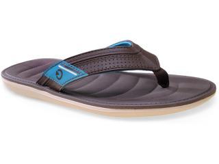 Chinelo Masculino Grendene 10937 Cartago Malta Bege/marrom/azul - Tamanho Médio