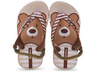 Chinelo Masc Infantil Grendene 25431 Ipanema Baby Bege/marrom - Tamanho Médio
