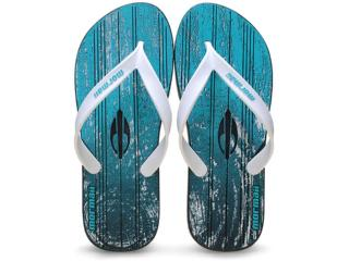 Chinelo Masculino Grendene 10591 Mormai Tropical Azul/branco - Tamanho Médio