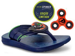 6162d0473 Chinelo Masc Infantil Grendene 21806 Hot Wheels Super Flop Spinner  Azul verde