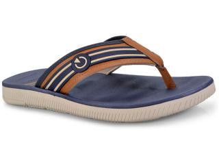 Chinelo Masculino Grendene 11280 Cartago Napoles Bege/azul/castor - Tamanho Médio