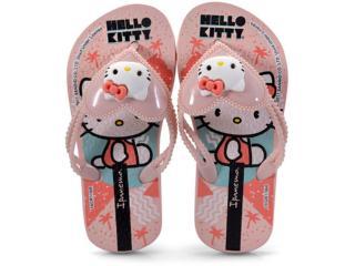 d81e5f49f Chinelo Fem Infantil Grendene 26151 Ipanema Hello Kitty Love Rosa