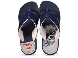 Chinelo Masculino Grendene 11171 Mormaii Drop Azul/bege - Tamanho Médio