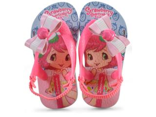 Chinelo Fem Infantil Grendene 25511 24095 Moranguinho Pop ba Azul/rosa Neon - Tamanho Médio