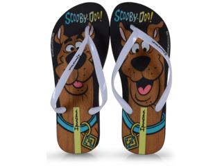 Chinelo Feminino Grendene 26458 21668 Ipanema Scooby Doo Preto/branco - Tamanho Médio