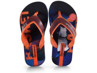 Chinelo Masc Infantil Grendene 25759 22887 Ipanema Deck Inf Azul/laranja - Tamanho Médio