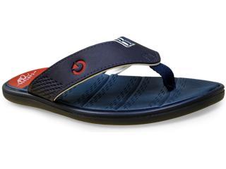 Chinelo Masculino Grendene 11109 Cartago Rhodes Azul/vermelho - Tamanho Médio