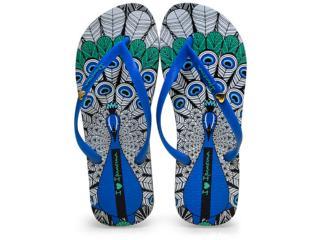 Chinelo Feminino Grendene 25970 Ipanema Art Preto/azul - Tamanho Médio