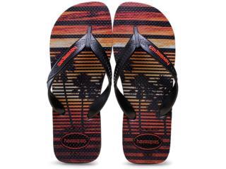 Chinelo Masculino Havaianas Surf  Cinza Chumbo/preto - Tamanho Médio