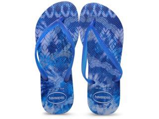 Chinelo Feminino Havaianas Slim  Tie Dye Azul Estrela - Tamanho Médio