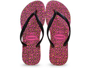 Chinelo Feminino Havaianas Slim Animals Maravilha Pink - Tamanho Médio