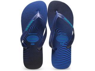 Chinelo Masculino Havaianas Aero Graphic Azul Estrela - Tamanho Médio