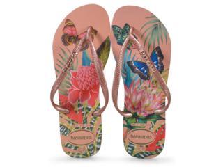 Chinelo Feminino Havaianas Slim Tropical Nude Salmão - Tamanho Médio