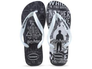 Chinelo Masculino Havaianas Harry Potter Branco - Tamanho Médio