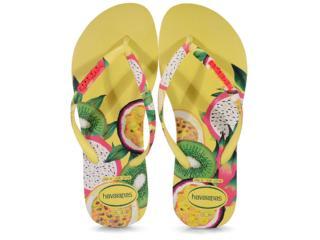 Chinelo Feminino Havaianas Slim Sensation Amarelo Polen - Tamanho Médio