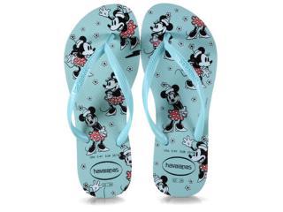 Chinelo Feminino Havaianas Slim Disney cf Ice Blue - Tamanho Médio