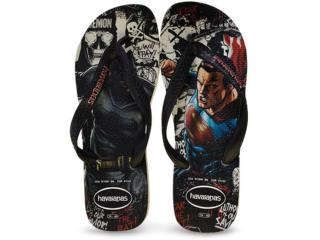 Chinelo Masculino Havaianas Batman x Supermann Branco/preto - Tamanho Médio