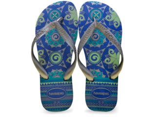 Chinelo Feminino Havaianas Spring Azul - Tamanho Médio