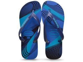 Chinelo Masculino Havaianas Aero Graphic Azul Estrela/marinho - Tamanho Médio