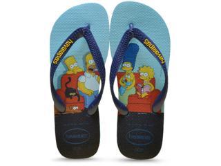Chinelo Masculino Havaianas Simpsons Azul - Tamanho Médio