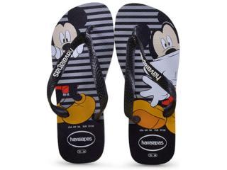 Chinelo Unisex Havaianas Disney Stylish Cinza Gelo - Tamanho Médio