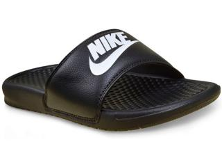 c67288ae843 Chinelo Masculino Nike 343880-090 Benassi Just d0 it Preto