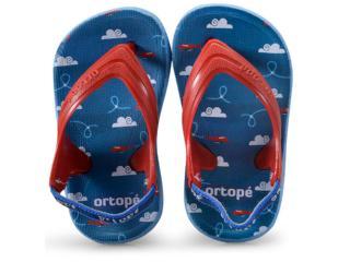 adc6010df9 Chinelo Masc Infantil Ortopé 22270037 Aqua Vermelho azul