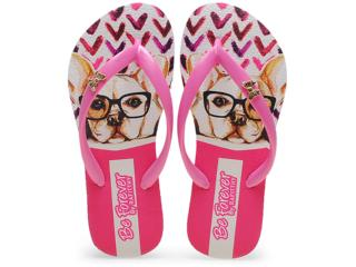 Chinelo Feminino Rafitthy 118.51701 Bulldog Nerd Pink - Tamanho Médio