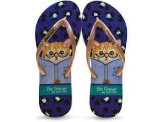 Chinelo Feminino Rafitthy 110.61702 Smart Cat Dourado - Tamanho Médio