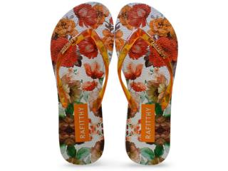 Chinelo Feminino Rafitthy 222.61701 Lovely Flowers Laranja - Tamanho Médio