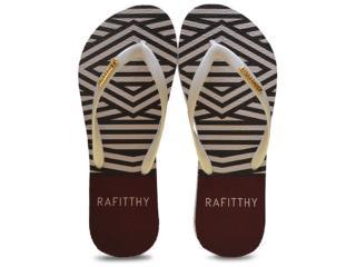 Chinelo Feminino Rafitthy 222.61701 Fashion Listras  Branco - Tamanho Médio