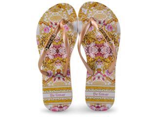 Chinelo Feminino Rafitthy 110.81702 Scarf  Glam Dourado - Tamanho Médio