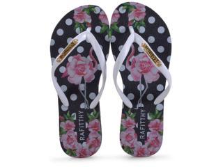 Chinelo Feminino Rafitthy 222.91702 Flamingo Roses Branco - Tamanho Médio