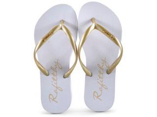 Chinelo Feminino Rafitthy 226.91701 Branco/dourado - Tamanho Médio