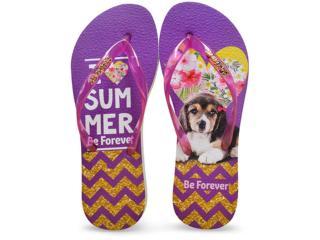 Chinelo Feminino Rafitthy 110.71701 Beagle Summer Violeta - Tamanho Médio