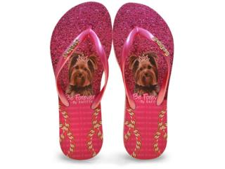 Chinelo Feminino Rafitthy 110.71701 Glitter York Pink - Tamanho Médio