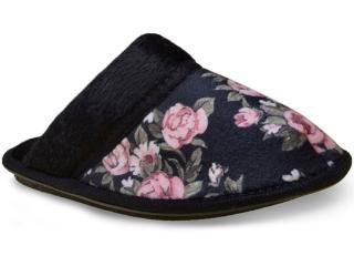Chinelo Feminino Specht 1027 Floral Preto - Tamanho Médio