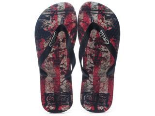 Chinelo Masculino Coca-cola Shoes Cc0353 Preto/vermelho - Tamanho Médio