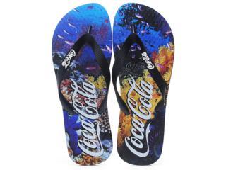 Chinelo Masculino Coca-cola Shoes Cc0351 Preto - Tamanho Médio