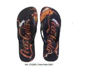 Chinelo Masculino Coca-cola Shoes Cc0355 Preto - Tamanho Médio