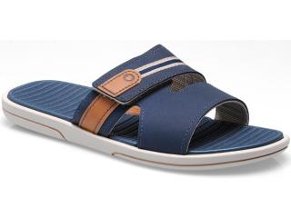 Chinelo Masculino Grendene 10823 Cartago Rimini Slide ad Bege/azul - Tamanho Médio